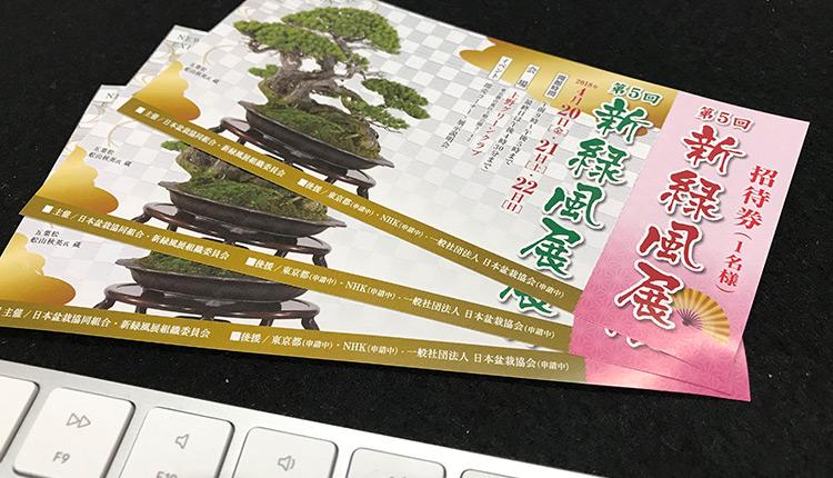 第5回新緑風展チケット